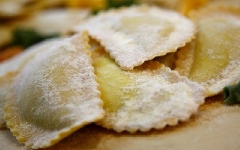 Salsa calabaza pasta rellena