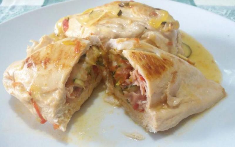 Pechuga de pollo rellena recetas de johanna prato for Que cocinar con pollo