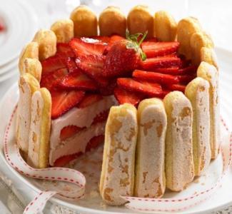 Torta Charlotte Con Mousse De Frutillas Recetas De